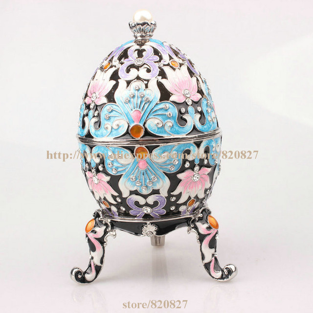 Faberge egg trinket jewelry box with a pearl on top for sale estee faberge egg trinket jewelry box with a pearl on top for sale estee egg treasures egg aloadofball Images