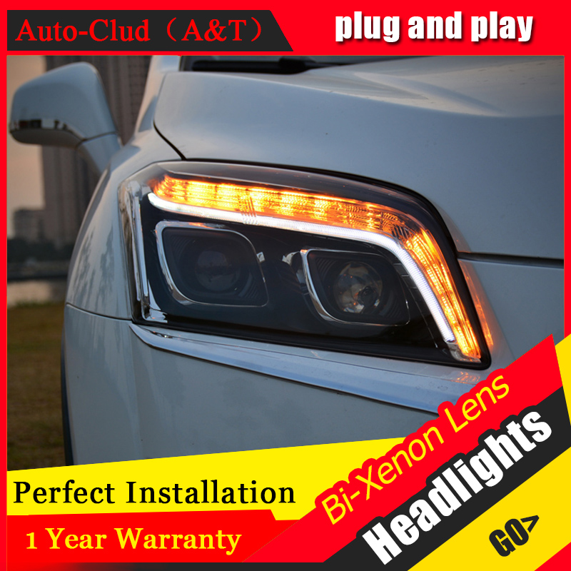 Car Styling For Chevrolet TRAX led headlights For TRAX head lamp Angel eye led front light Bi-Xenon Lens xenon HID KIT car styling for cadillac ats headlights for ats led head lamp led front light bi xenon lens xenon hid
