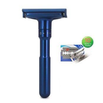 River lake manual Safety Razor Close Shaving Classic Double Edge  For Men Adjustable double edge straight shaving knife