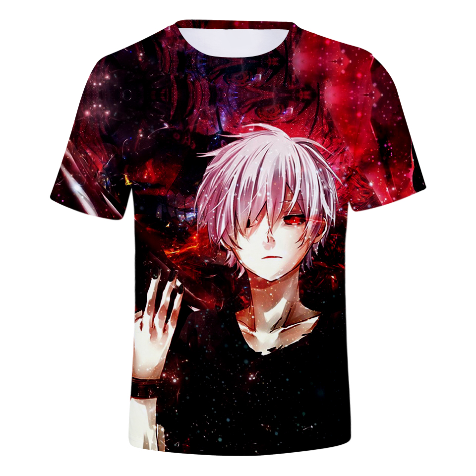 Tokyo Ghoul Japanese Dark Fantasy Anime 2 Men/'s T-Shirt 100/% Cotton