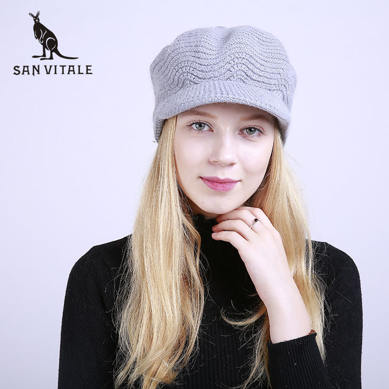 Women'S   Skullies     Beanies   Hats Winter Warm Hats Skull Caps Fur Rick And Morty Cashmere Luxury Brand Cashmere Plaid Ski Mask Gift