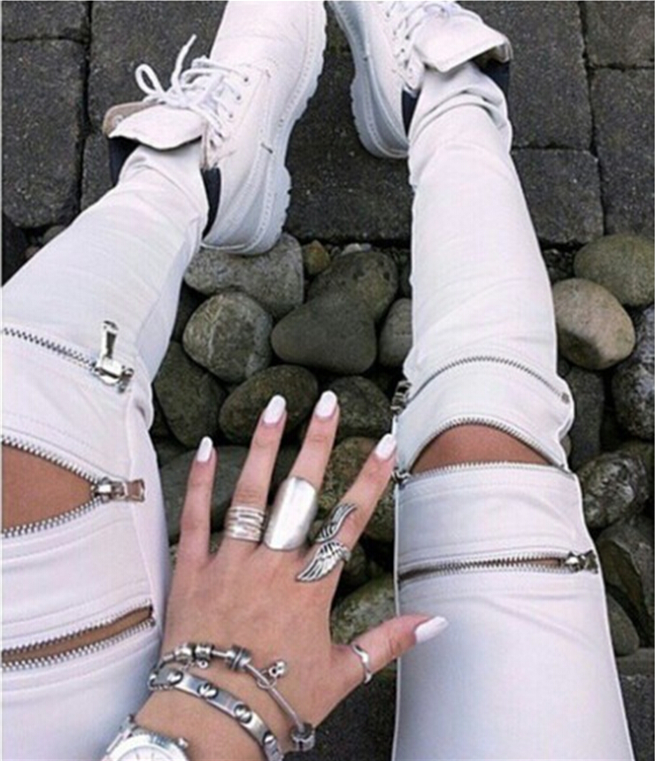 Popular White Leather Pants-Buy Cheap White Leather Pants lots ...