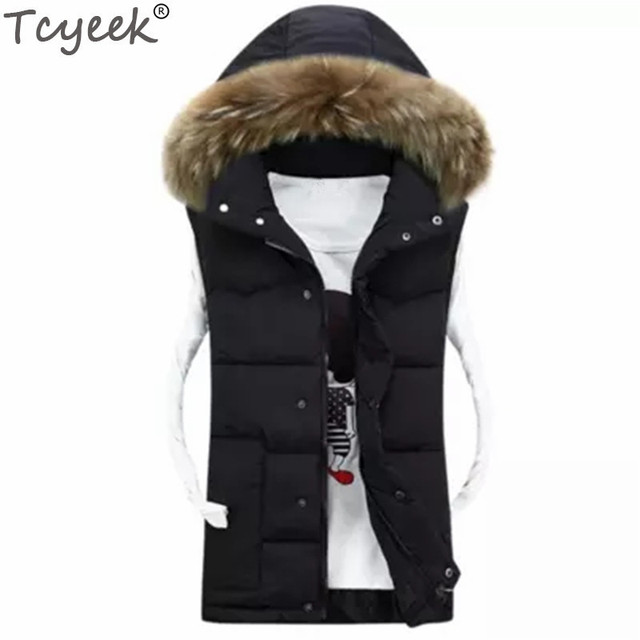 b8e14e8a70b Tcyeek Waistcoat For Women Winter Cotton Female Chaleco Mujer Plus Size 4XL  Hooded Colete Feminino High Quality Men s Vests