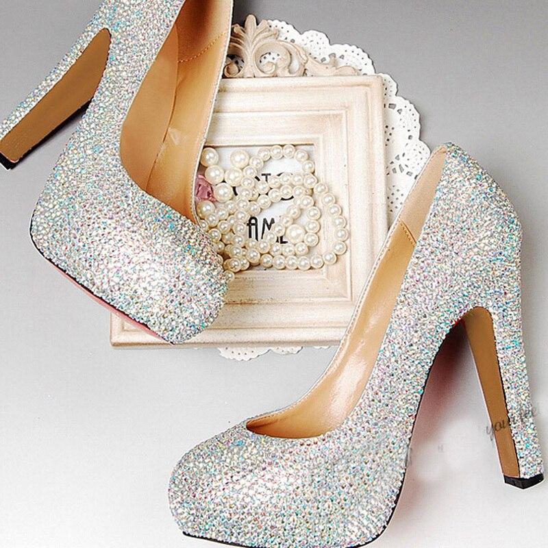 Aliexpress.com : Buy Chunky Heel Wedding Shoes Peep Toe Prom Party