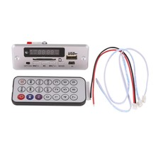 2017 Módulo de Audio Inalámbrico Reproductor de MP3 Decodificador Bordo USB TF de Radio Para Coche Rojo LED Digital Con Mando a distancia