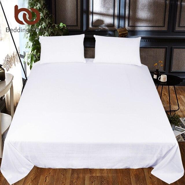 Beddingoutlet Einfarbig Bettlaken Ein Stück Weiß Schwarz Rot Flache