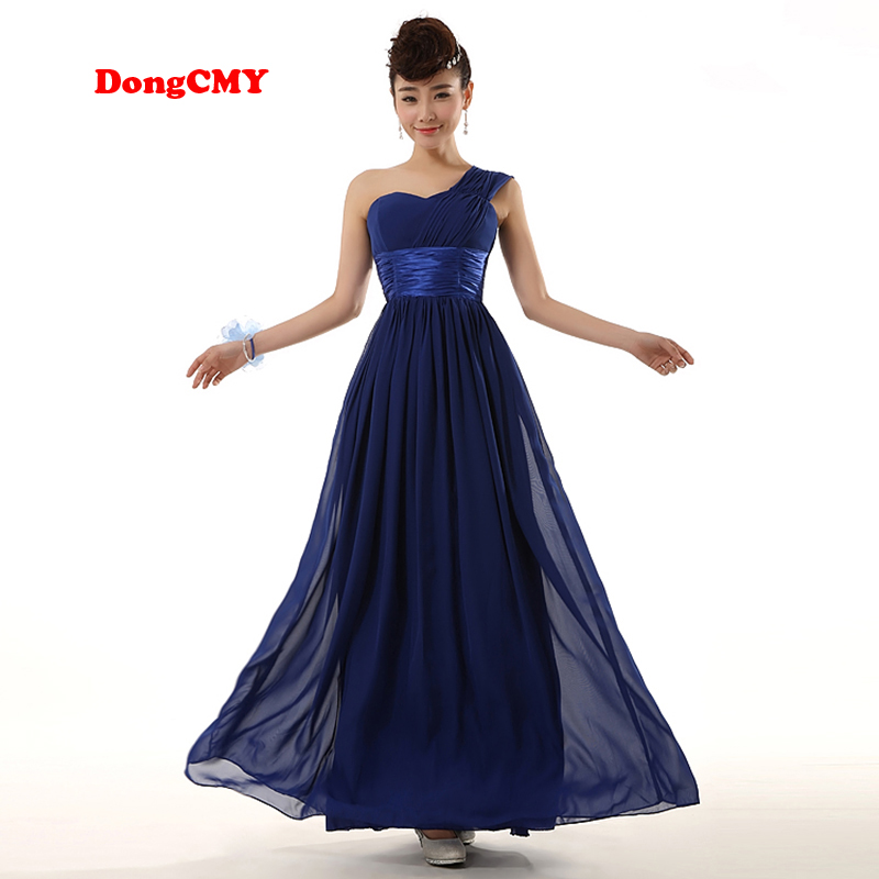 DongCMY WL1211 2019 New Fashion Long Design Sister Bridal Married Formal   Bridesmaid     Dress   Gown Chiffon Beach Vestido De Festa
