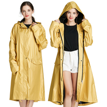 Rain Jacket Womens Ribbon Zipper Waterproof Windbreaker Coat Korean Adult Fashion Personality Raincoat Women