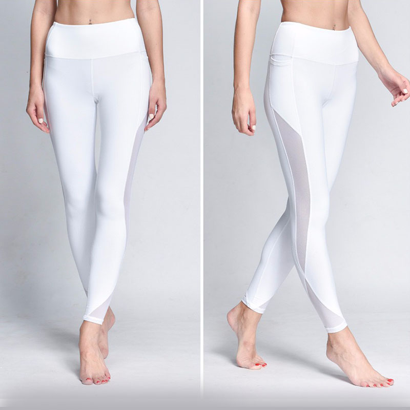 NEW STORE Trending Products 2019 Sport White Leggings Femme Womens Workout Leggings With Pockets Push Up Pants Fitness Legging