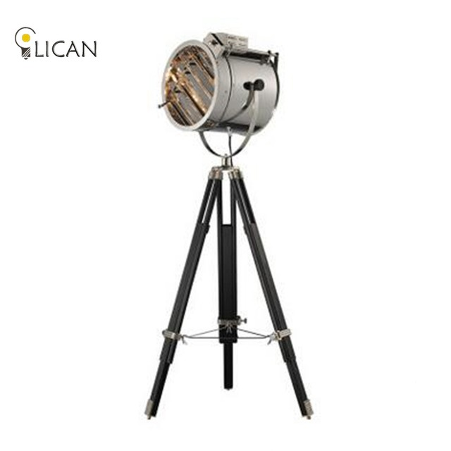 Online shop tripod floor lamp spost modern searchlight floor light tripod floor lamp spost modern searchlight floor light tripod base gold chrome lampshade metal creative nightstand lamp e27 aloadofball Images