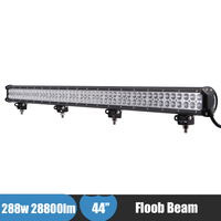 44 ''Led-lichtbalk 288 W Flood Off Road Verlichting ATV UTV SUV Truck Pick-up LED Bar Rijden Licht voor Jeep Chevrolet Dodge Ford
