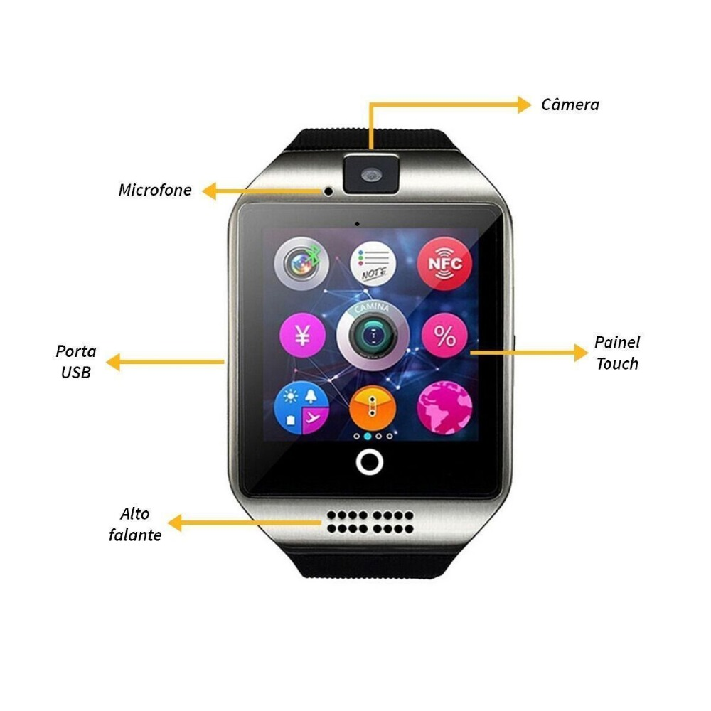 Watch Phone Smartwatch Q18 Smart Watch Phone SIM Android Watch Smartphone with SIM Card Camera Bluetooth Smartwatch Android Wear in Smart Watches from Consumer Electronics