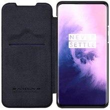 Серия NILLKIN QIN для OnePlus 7 Pro, чехол, винтажный флип чехол, кошелек из кожи пу и ПК, задняя крышка для OnePlus 7