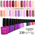 #30917 2016 New CANNI varnish gel for nails 7.3ml 239 color  private label glitter nails matte nail polish gel polish lacquer