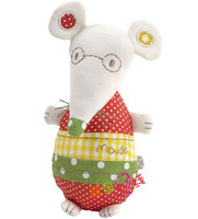 Rabat Hot Sprzedaż Cute Myszy Doll Kolorowe Uspokoić Zabawki Grzechotka Pluszowa Zabawka Dla Dziecka wielofunkcyjny 1 pc