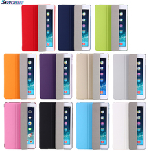 цена на Case For ipad Air 1 / 9.7 inch NEW 2017 2018 Model A1822 A1823 A1893 A1954 Color PU Ultra Slim Magnet wake Smart Cover Case