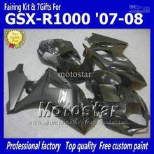 100{e7269ef0c680a1969625d774b0f6e928c874a456250ce53073d03ee7a49e127b} Fit moto carénages pour SUZUKI GSXR 1000 K7 K8 carénages 2007 2008 K7 GSXR1000 Injection moulage brillant plat noir ABS f