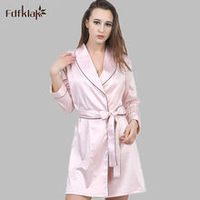 3f21bf2593838d 2016 New Fashion Spring Summer Silk Night Gown Bathrobe Sexy Homewear For  Women Bathrobe Dressing Gown