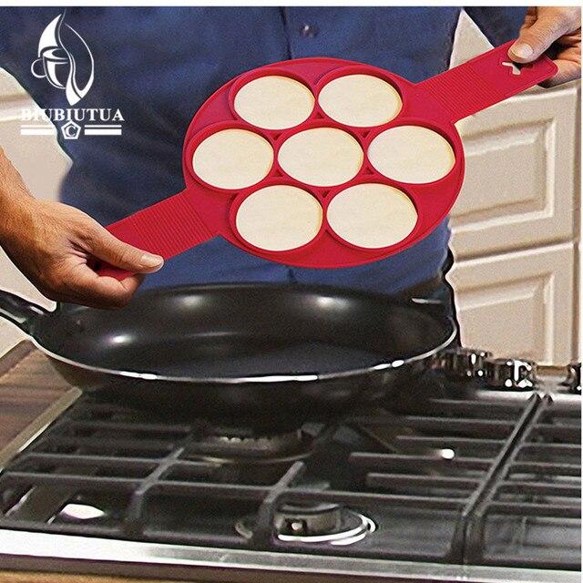 BIUBIUTUA Drop Shipping Nonstick Pancake Maker Egg Ring Maker Perfect Pancakes Easy Silicone Egg Pancake Mold Egg Tools