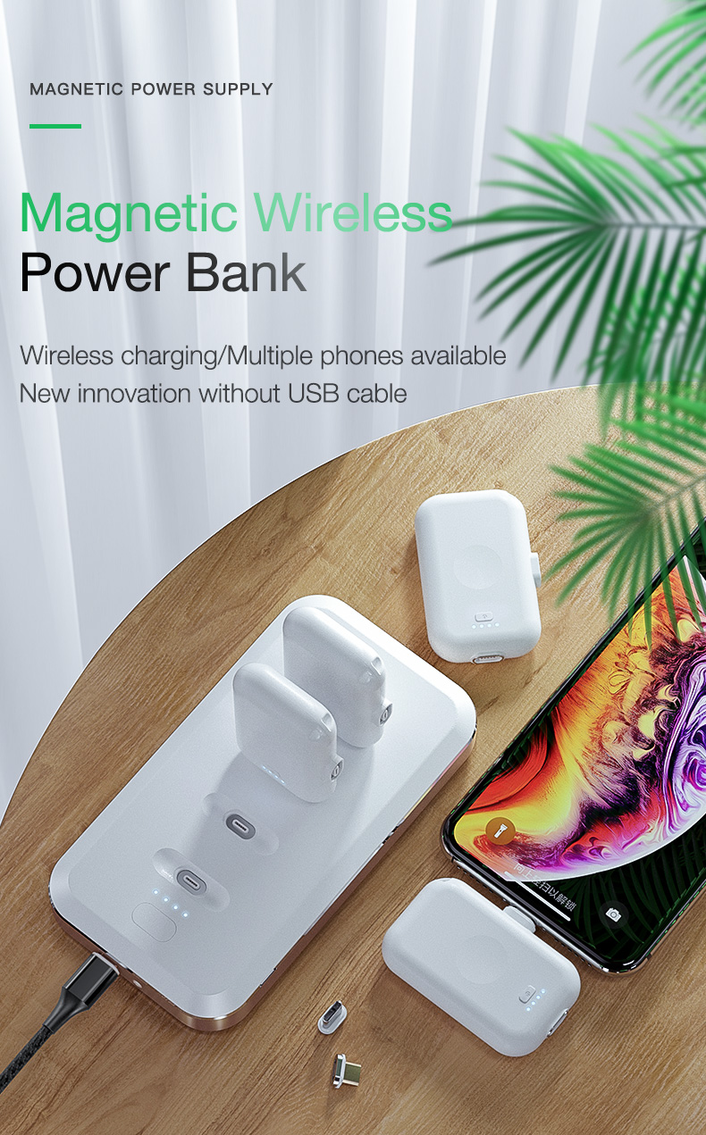 Magnetic Wireless Power Bank Portable Charger External Battery (1)