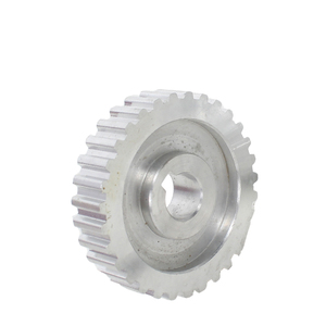 Image 4 - 2pcs metal synchronous Pulley gear motor belt gear drive wheel gt2 9.5mm pulley CJ0618 SIEG C2