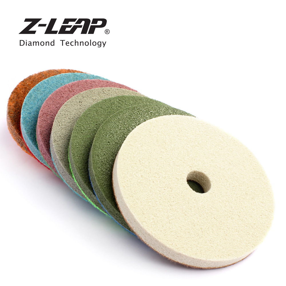Z-LEAP 7piece 5 Inch Sponge Polishing Pads Stone Marble Sandstone Abrasive Wheel 125mm Diamond Sanding Pad For Polishing Machine