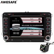"""7 """"2 din car dvd de navegación gps reproductor de radio para volkswagen vw Seat Skoda golf 6 passat B6 touran sharan jetta polo tiguan con el regalo libre"""