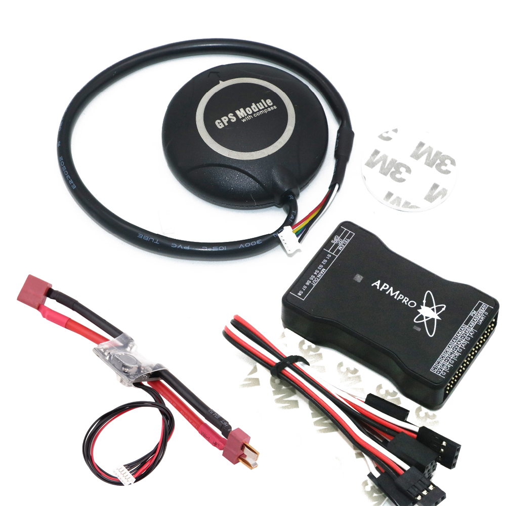 цена на 1 Set MINI APM PRO Flight Controller Board + 7M GPS Module + Power Module (T Plug) For Quadcopter Helicopter