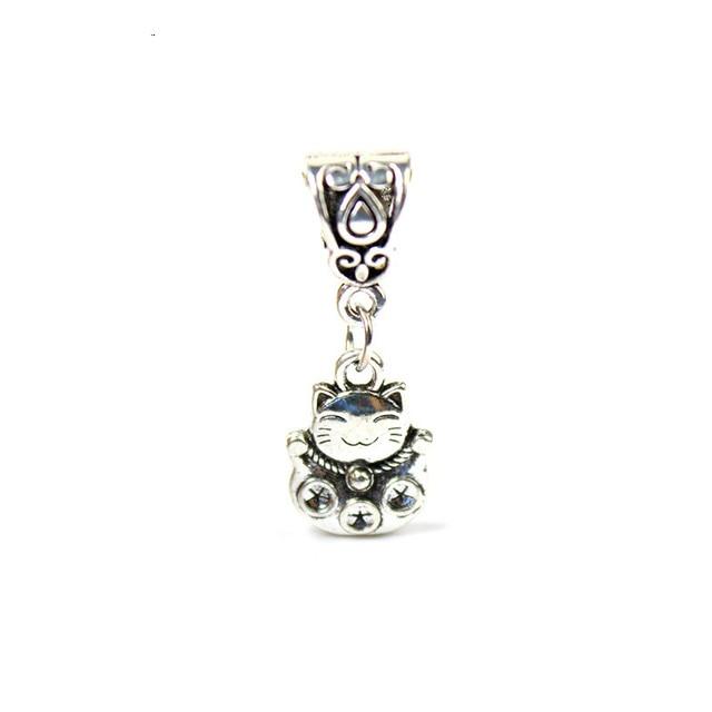 c556b4292 5PCS Chinese Style Lucky Cat Charm Good Fortune Pendants For Animal Pandora  Bracelet Necklace Jewelry Making DIY Handmade Craft