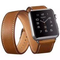 The Extra Long Genuine Leather Strap For Apple Watch Band Double Tour Bracelet Leather Watchband 38mm