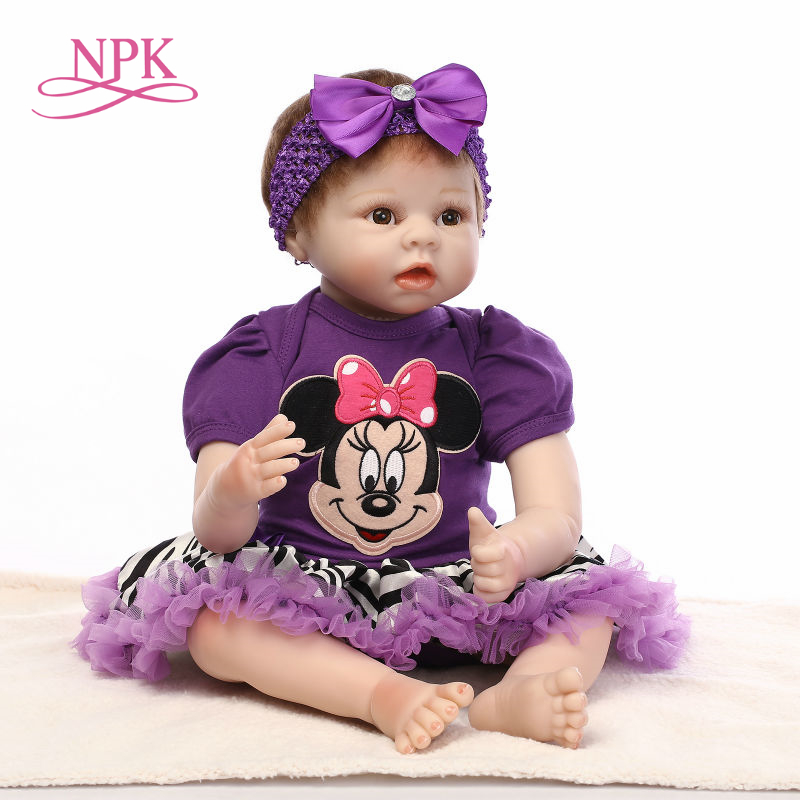 NPK bebe reborn 55cm boneca girl doll completa for girl Toys reborn babies doll birthday gift toys for kids plamates