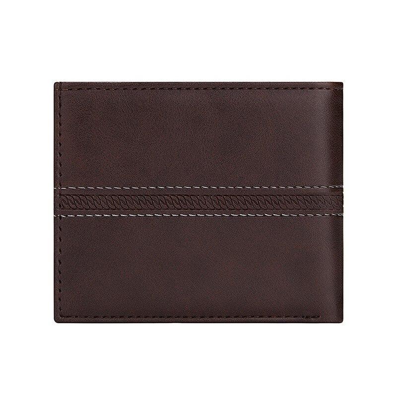 Billetera de hombre diseño de lujo en cuero PU delgada negocios 1