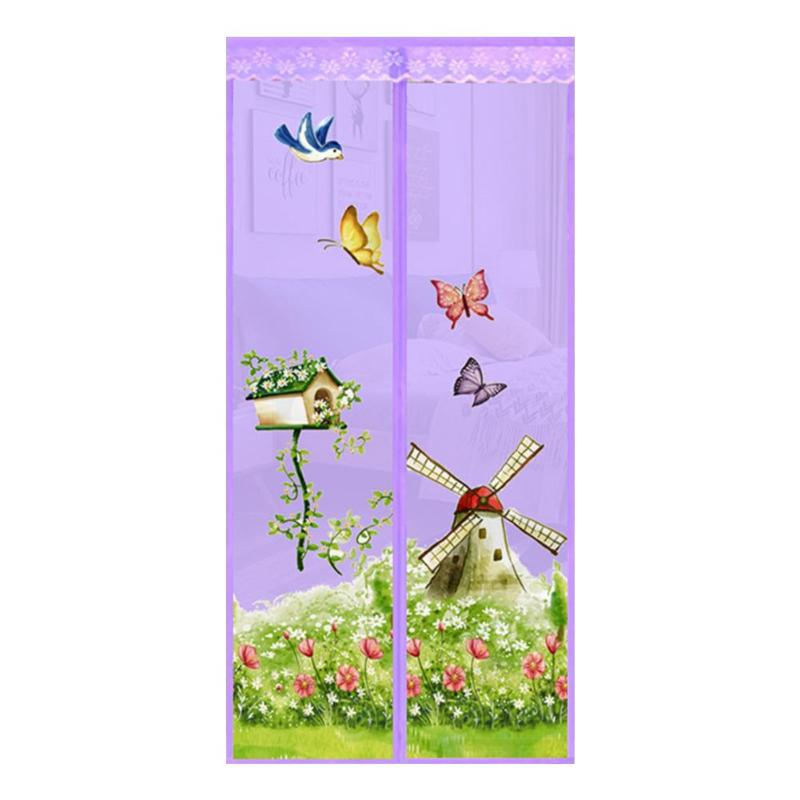 Summer Magnetic Curtains Door Screen Tulle Anti Mosquito Curtain Mosquito Net for Bedroom Cool And Refreshing Mosquito Net in Mosquito Net from Home Garden