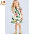 Monkids 2016 Fashion Children Girl Clothing Girls Dress Kids Party Dresses For Girls Flowers Children's Costumes Jacquard