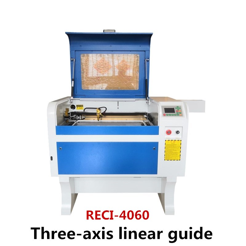 Three-axis linear guide <font><b>Laser</b></font> Engraving RECI W1 80W <font><b>4060</b></font> 220V/110V Co2 <font><b>Laser</b></font> Engraver Cutting Machine DIY <font><b>Laser</b></font> Cutter Marking image