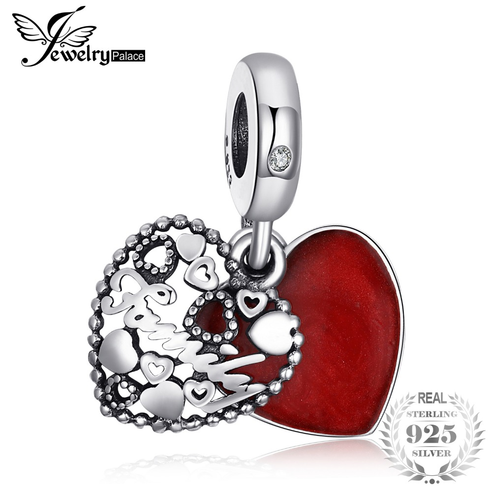 Jewelrypalace 925 Sterling Silver Secret Admiration Red Enamel Beads Charms Fit Bracelets Gifts For Her Fashion Jewelry Present