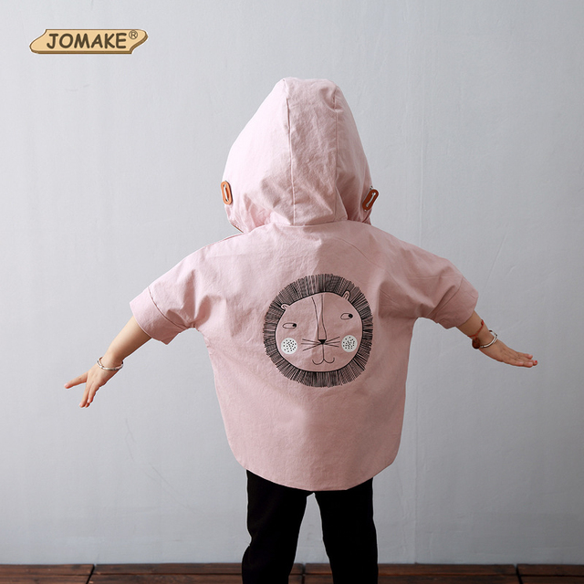 León de la historieta Capa capote Del Bebé del Otoño Rompevientos Niños Lindos Chaquetas Nueva Moda Niño Zanja ropa de Abrigo y Capa de Los Niños Trajes
