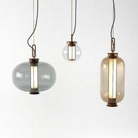Postmodernistyczna Loft apartament wisiorek światła twórczej sztuki zwięzłe szkło jadalnia Bar kawiarnia oprawy oświetleniowe darmowa wysyłka