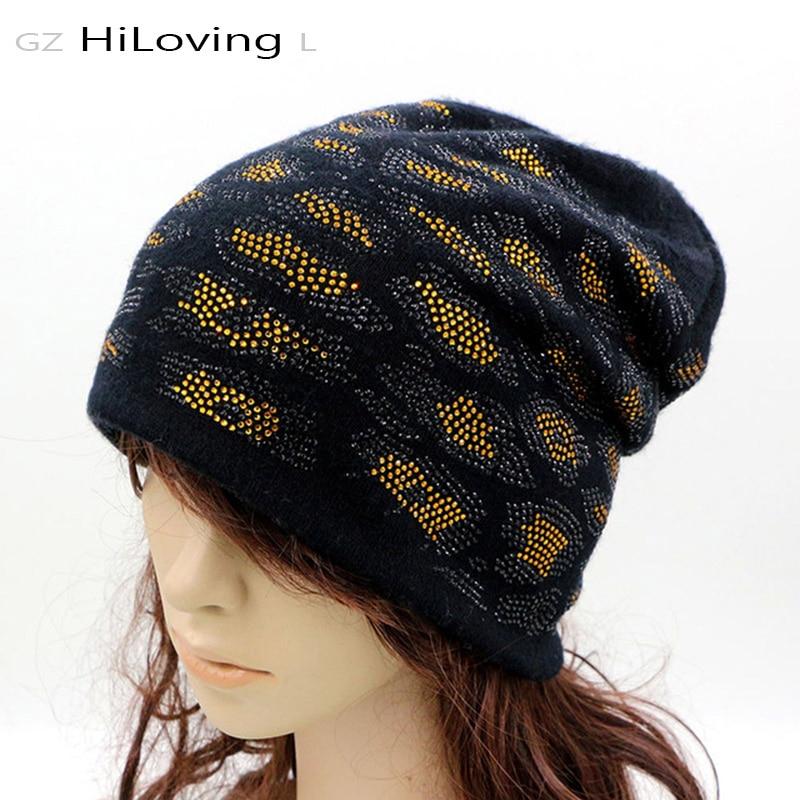 new design winter womens beanie hats soft cotton slouchy
