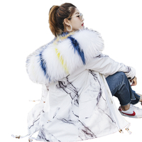 Winter Jacket Women Clothes 2019 Real Fur Coat Fox Fur Wool Liner Parka Jacket Korean Long Coat White Coats Abrigo Mujer ZT472