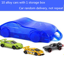 Alloy font b Hotwheels b font Car with Plastic Storage Vehicle Toy 2 Layer Holds 32