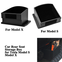 1pc Leather Car Seat Back Center Storage Box Bag Styling Tidy Car Accessories Organizer Container for Tesla Model X Model S