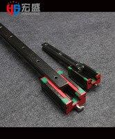 2 pces taiwan hiwin trilho linear hgr25-600mm com transporte de 4 pces hgh25ca