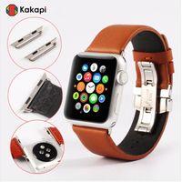 Genuine Leather Wrist Watch Band Classic Buckle Strap Watchband Wristband Belt for Apple Watch iWatch 38mm 42mm Sport Men Women