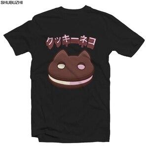 Cookie Cat Jap Text Tshirt - Steven Universe Cartoon t shirt men Unisex tshirt Loose Size top shubuzhi funny sbz1420(China)