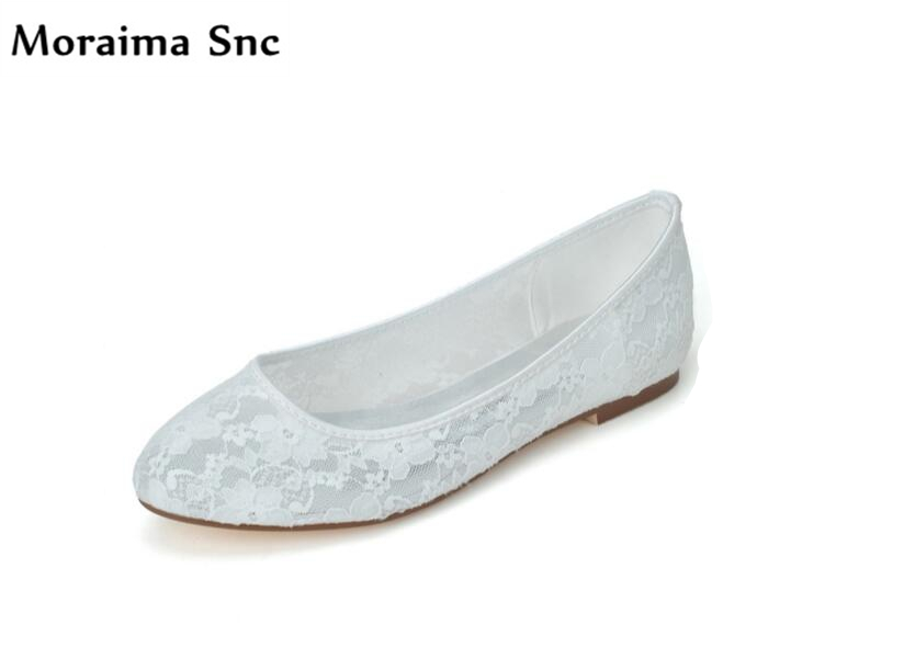 Moraima Snc sexy women wedding shoes shallow handy round toe flat with cut-out net 2018 newest female comfortable flats moraima snc brand sneakers female summer black pink sexy cut out zapatillas mujer casual metal round toe height increasing shoes
