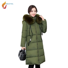 JQNZHNL Women Hooded Down Cotton Coats Jacket 2017 New Winter Parka Plus Size 4XL Medium Long Thicken Cotton Coat Outerwear L537
