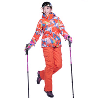 2016 Hot Sale Women Waterproof Snowboard Jacket Skiing Pants Mujer Winter Snow Pants Outdoor Ski Suit
