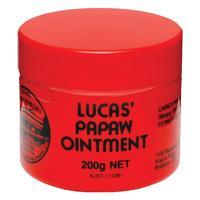 JYP Australia Lucas PAPAW Soothing Ointment200g Eczema Diaper Barrier Nappy Rash Cream Open wound Papaya Feet Minor burn Cuticle