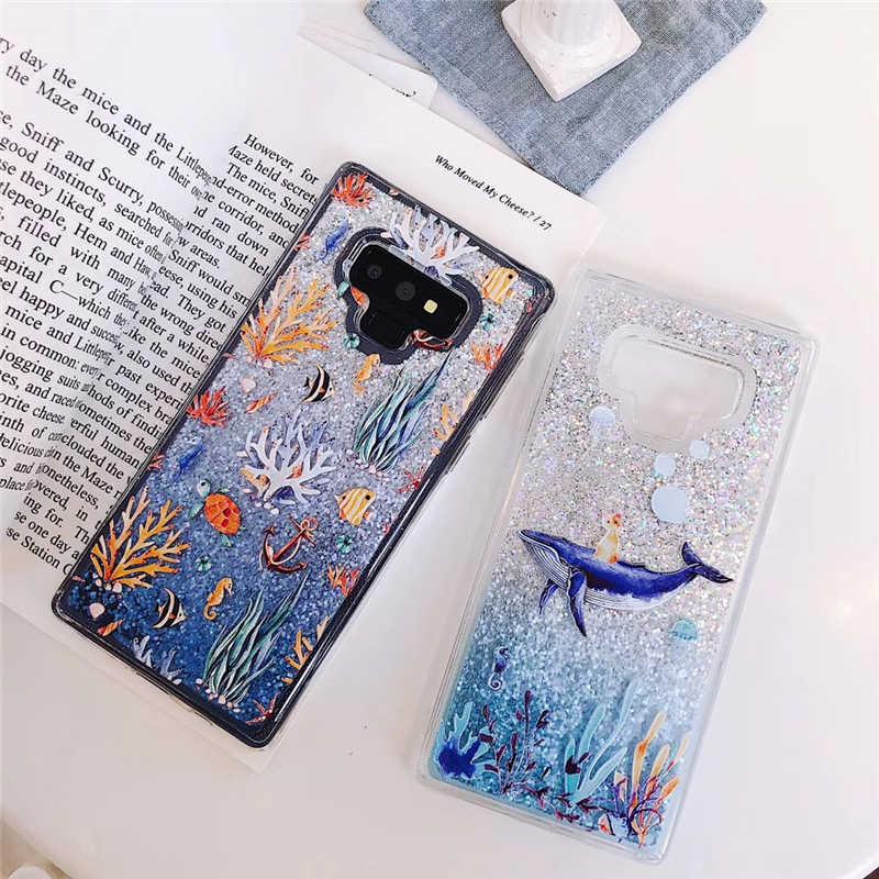 נוזל מים מקרה רך סיליקון כיסוי עבור Samsung Galaxy S9 S8 בתוספת S7 קצה J3 J5 J7 A3 A5 A6 a7 A8 2016 2017 2018 הערה 8 9 מקרה